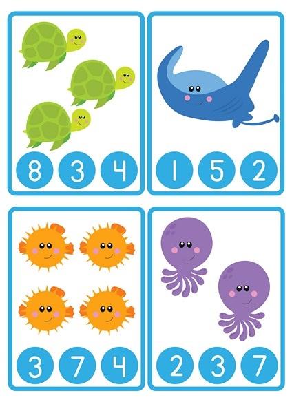 ocean animals count activities 1 Preschool and Homeschool