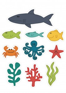 ocean animals cutting activity
