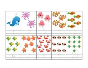 ocean animals math activities counting pages