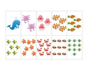 ocean animals math activities puzzle