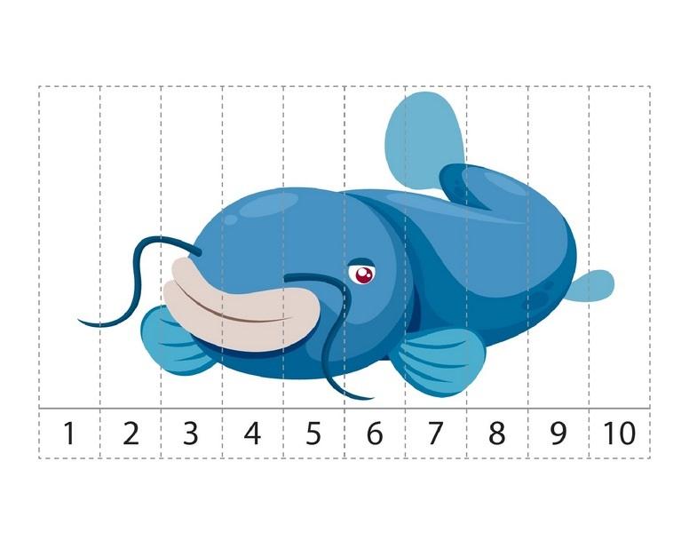 Ocean Animals Math Activities Puzzles Sequence 171 Preschool