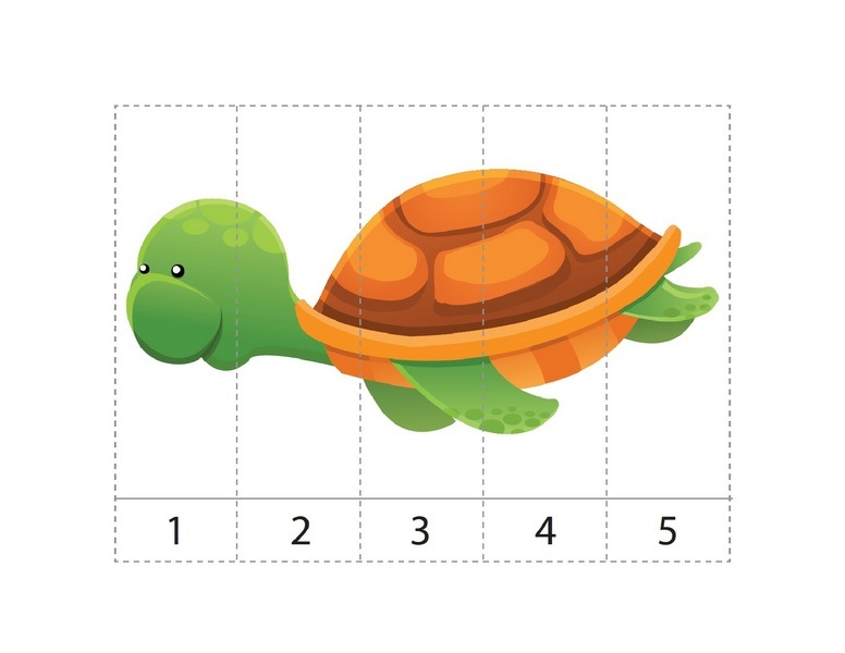 ocean animals math activities sequence puzzle turtle preschool and homeschool. Black Bedroom Furniture Sets. Home Design Ideas