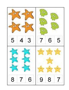 ocean animals number kıds