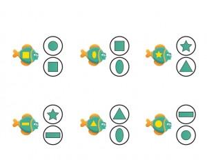 ocean animals shapes