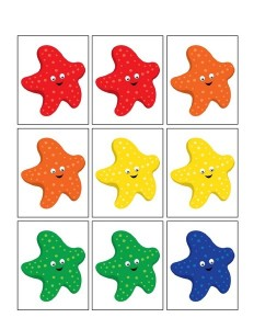 ocean animals worksheets colored sea star