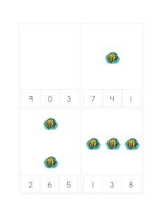 ocean number cards