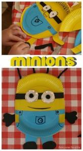 paper plate minion craft (2)