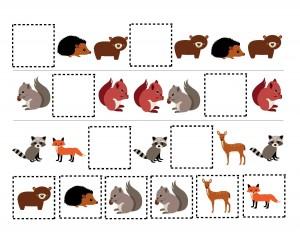 pattern forest animals activity
