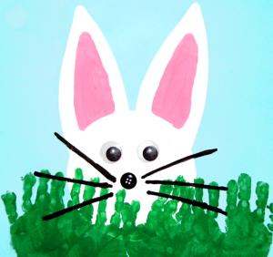 peeking bunny crafts