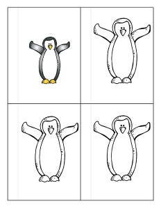 penguin coloring activities