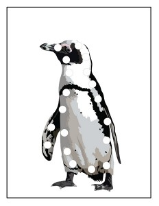 penguin lacing card