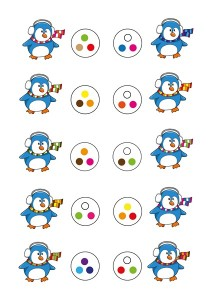 penguin printables color activity