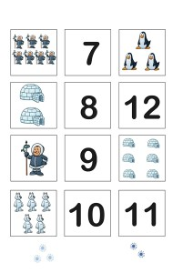 penguin printables numbers
