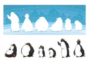 penguin printables shadow