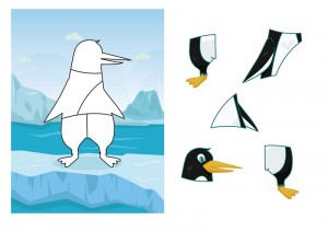 penguin printables tangram