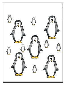 penguin size activity