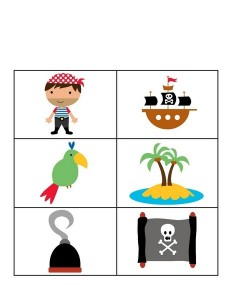 pirate worksheets match