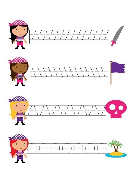 Pirate Worksheets Pre Writing 171 Preschool And Homeschool