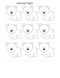 polar bear coloring