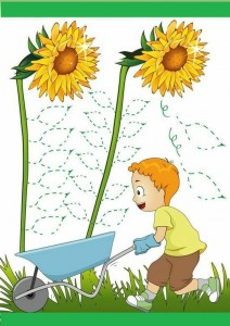 pre writing activities flowers
