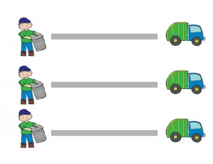 pre writing garbage truck worksheets