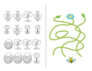 preschool bee coloring pages