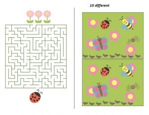 preschool bee ladybugs