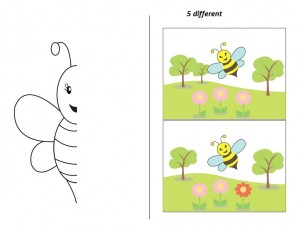 preschool bee symmetry