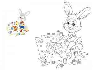 preschool bunny coloring cool pages (1)