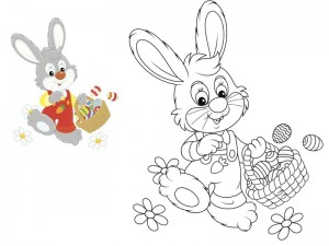 preschool bunny coloring cool pages (11)