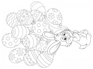 preschool bunny coloring cool pages (12)