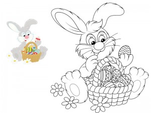 preschool bunny coloring cool pages (13)