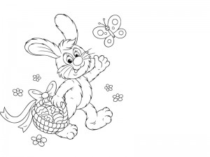 preschool bunny coloring cool pages (4)