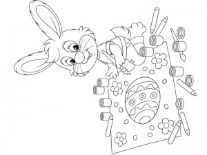 preschool bunny coloring cool pages (6)