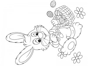 preschool bunny coloring cool pages (7)