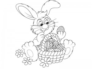 preschool bunny coloring cool pages (8)