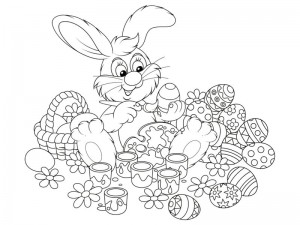 preschool bunny coloring cool pages (9)
