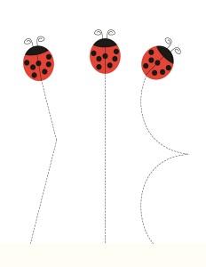 preschool ladybug pre wrting
