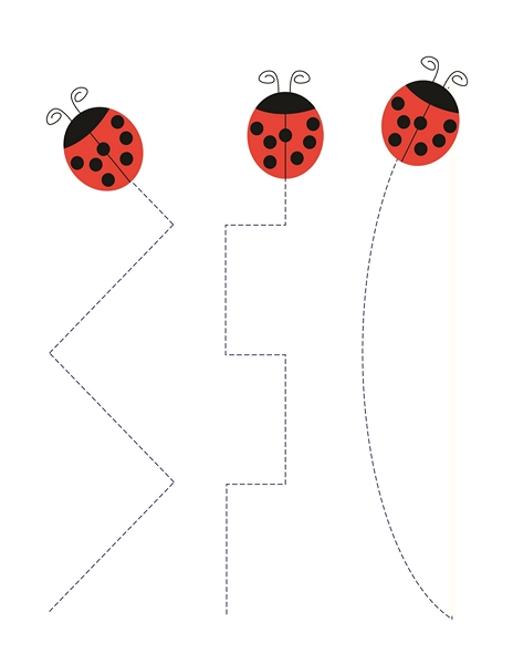 preschool ladybug tracing line  u00ab funnycrafts