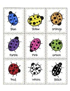preschool ladybugs color memory games