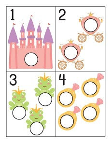 princess number cards