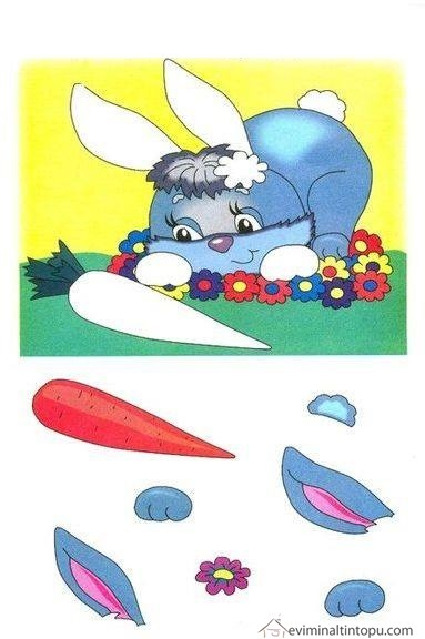 rabbit cut and paste activities Preschool and Homeschool