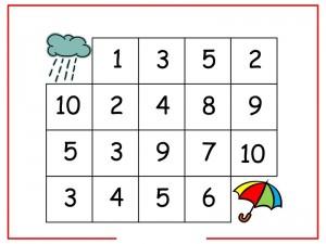 rain number maze