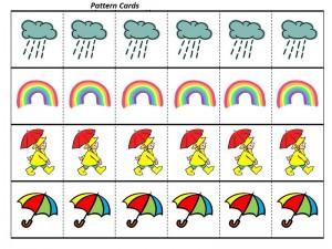 rain pattern cards