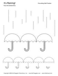 rain pre writing