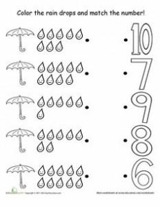 rain theme counting