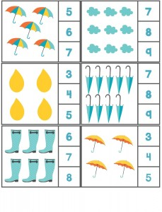 rain themed counting activity with clothespin (2)