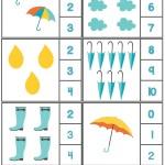 Rain Themed Worksheets