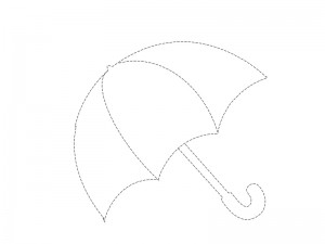 rain umbrella coloring page