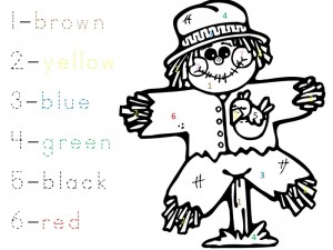 scarecrow activities coloring